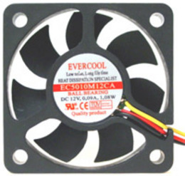 Evercool Fan 120x120x25-12 V
