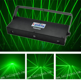 150mW Green Trifan Multi-Effect Laser Show System