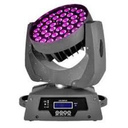 36x18W RGBWA+UV 6 in 1- Led Moving Head Wash ZOOM