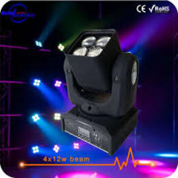 4X12W 4-in-1 Wash Beam LED Moving Head