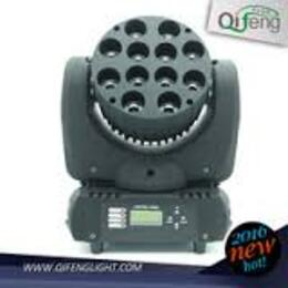 Led Wash Moving Head  12 x 8 W 4 in 1